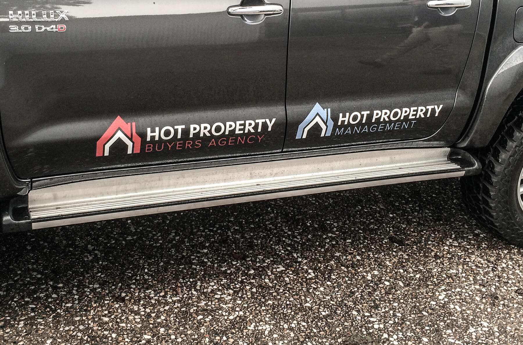 Hot Property Vehicle Signage