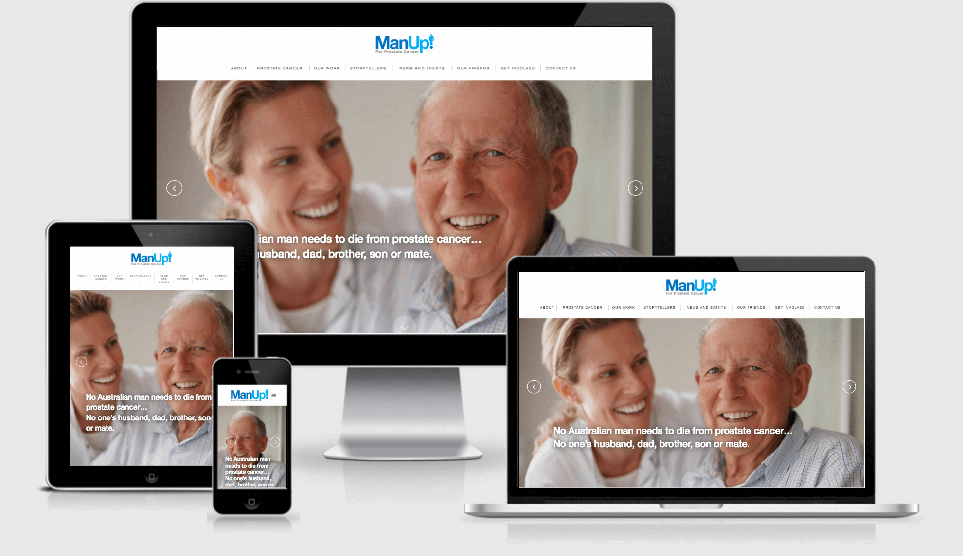 ManUp Responsive Website