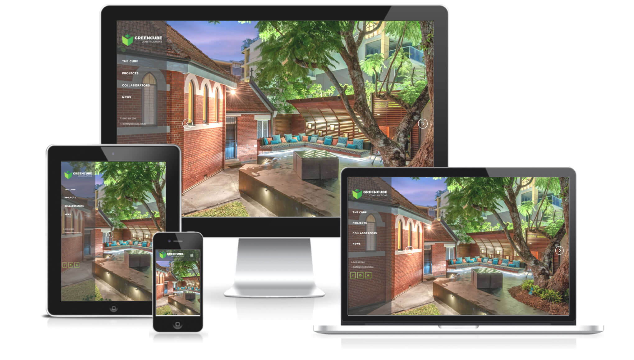 GreenCube Constructions Responsive Web Design