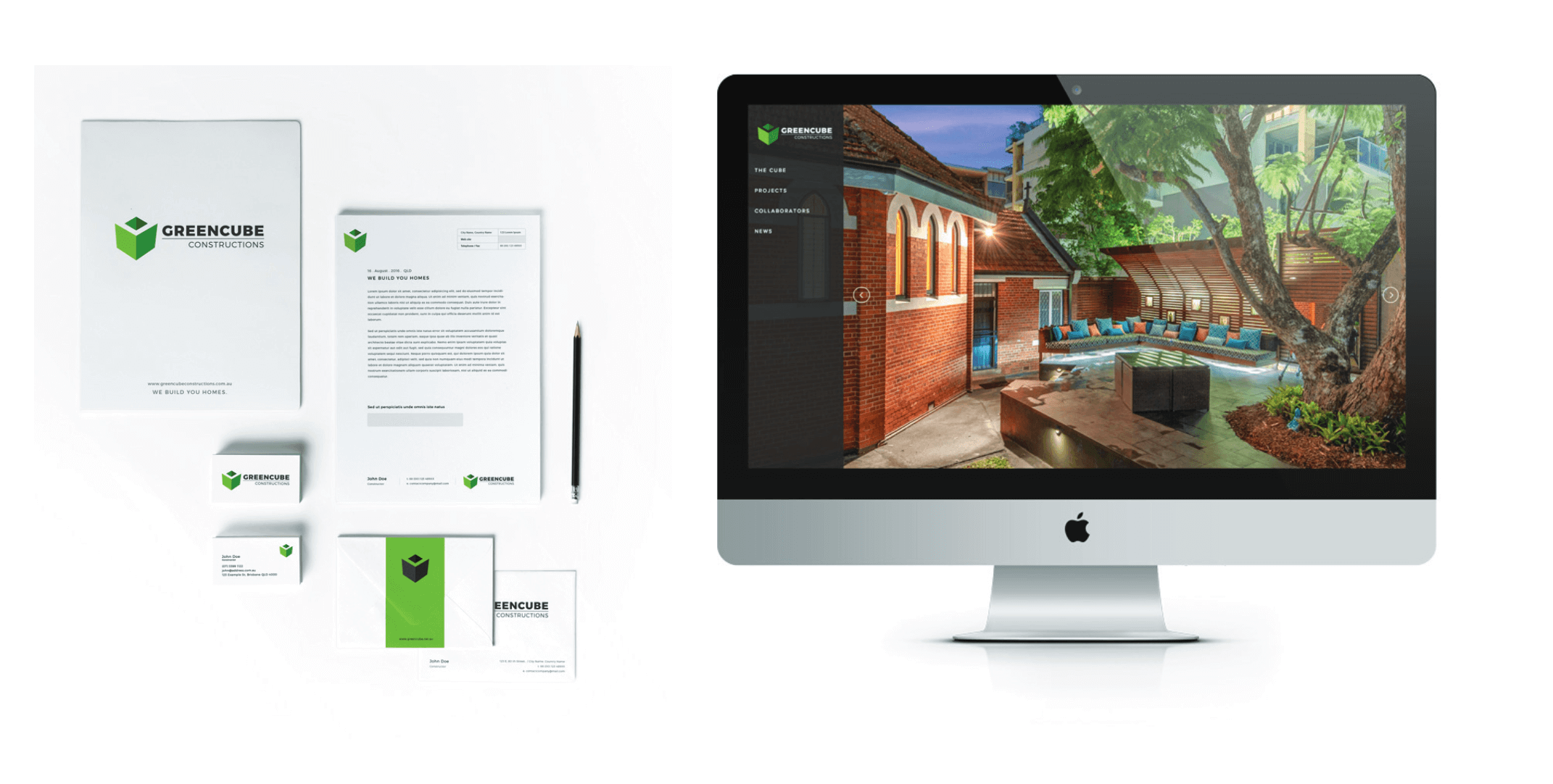 GreenCube Constructions Brand Guidelines Document Page 4