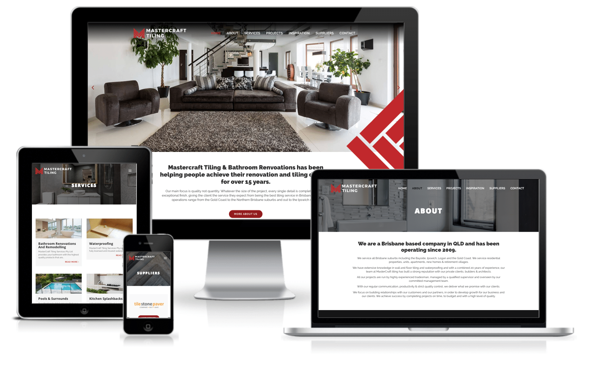 New Website and Branding: Mastercraft Tiling