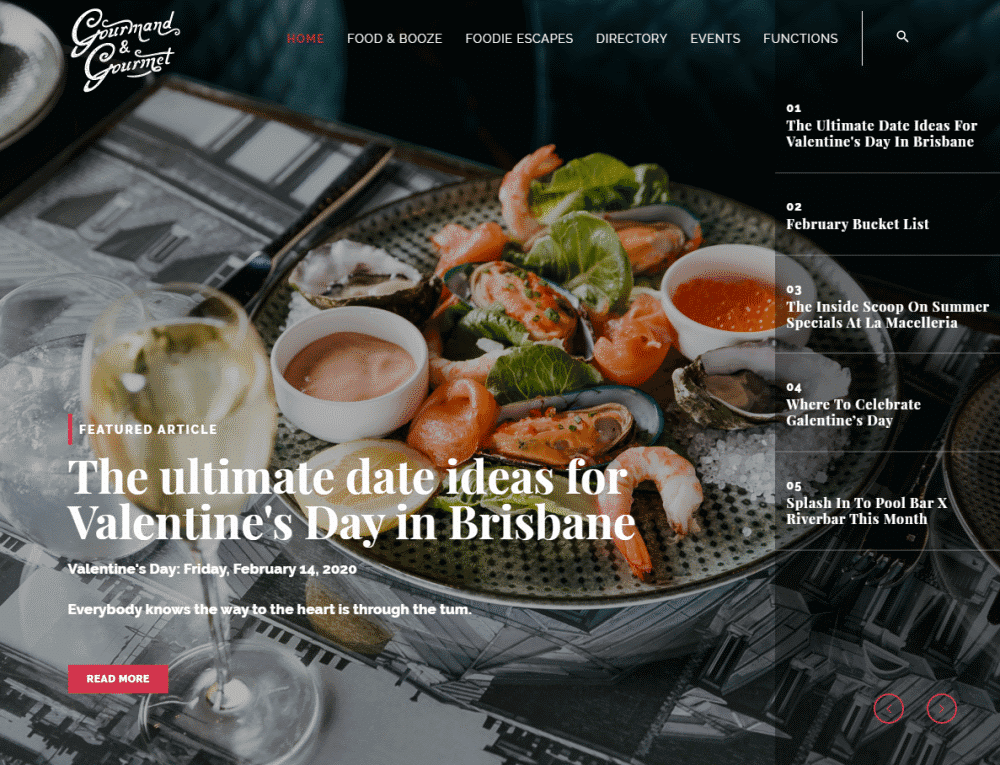 gourmand and gourmet website