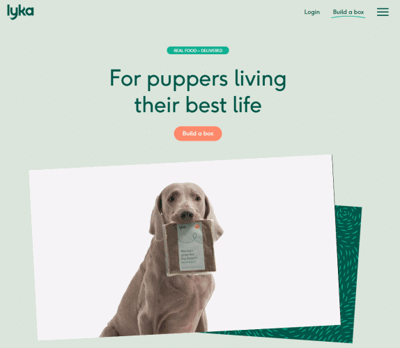 lyka dog food website
